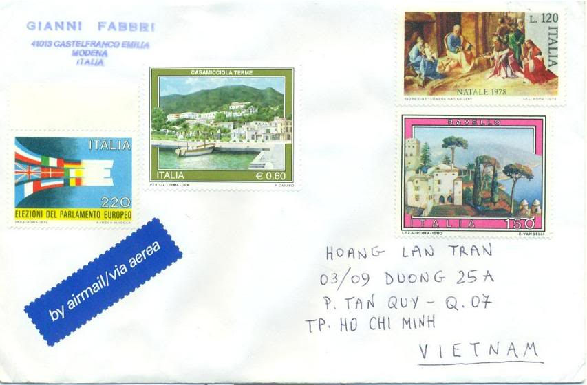 Italia Received Letter
