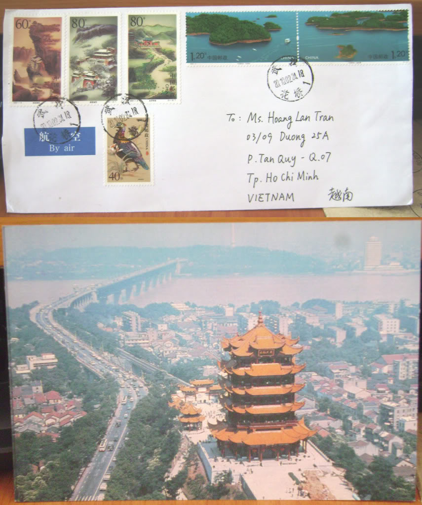 Letter received from China
