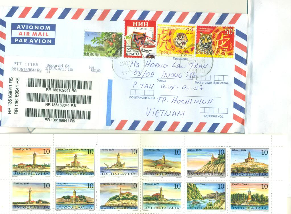 Received Serbia Letter