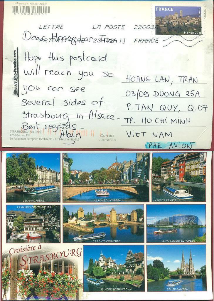France – Starbourg Postcard