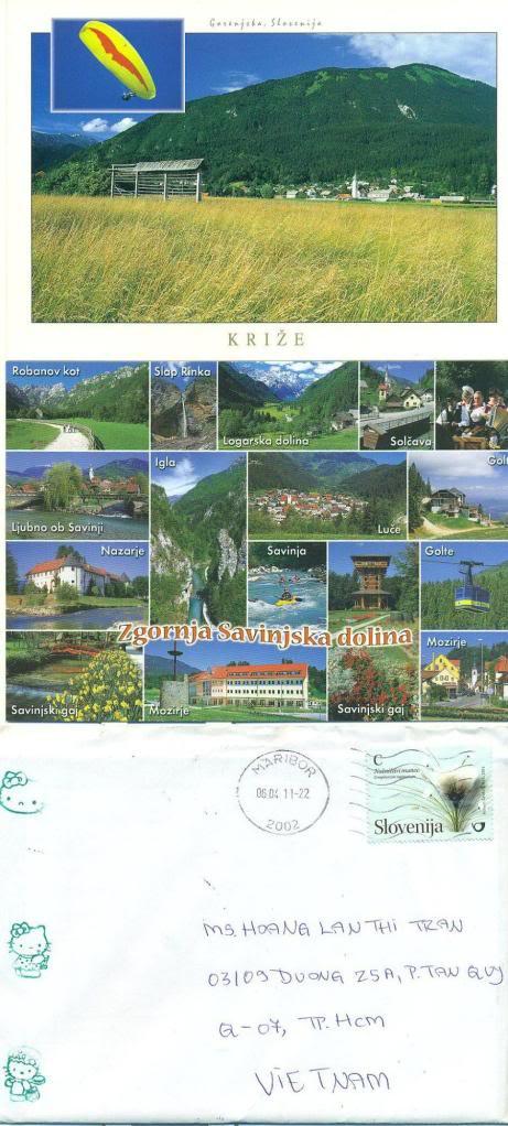Slovenija – mint postcard